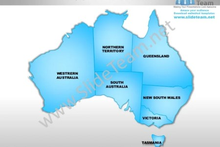 australia powerpoint editable continent map with countries templates slides 1 638 cb1358470938