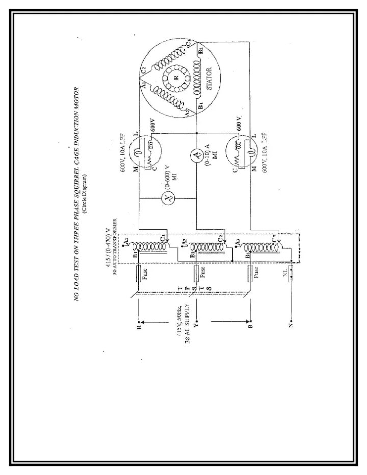 load test on 3 phase squirrel cage induction motor