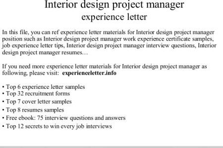 Experience Certificate For Interior Designer