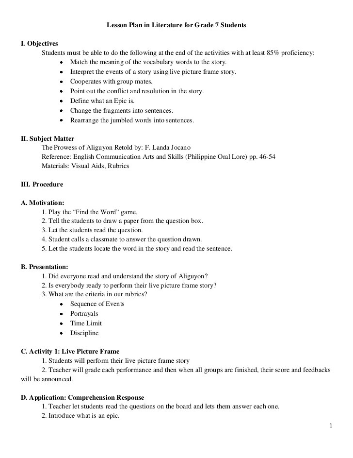 detailed lesson plan in english grade 4 adjectives