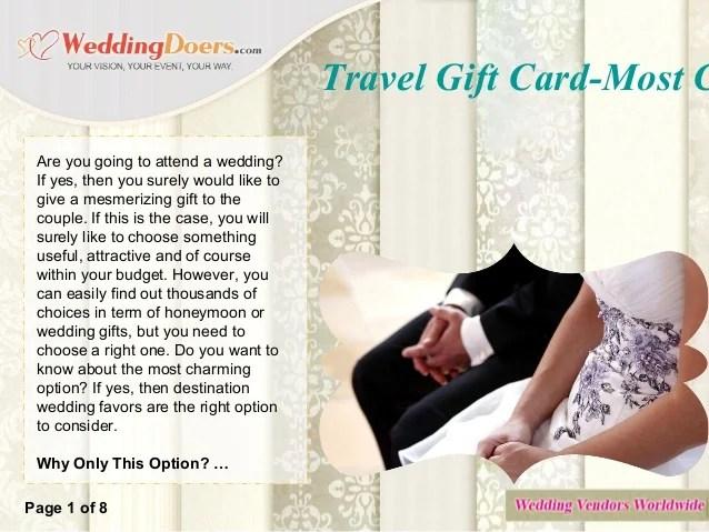 travel gift vouchers wedding gifts   Anexa Creancy