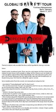 Depeche Mode Live In Berlin  Full online