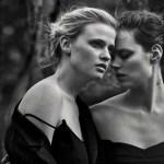 VOGUE ITALIA: Lara Stone & Freja Beha Erichsen by Peter Lindbergh