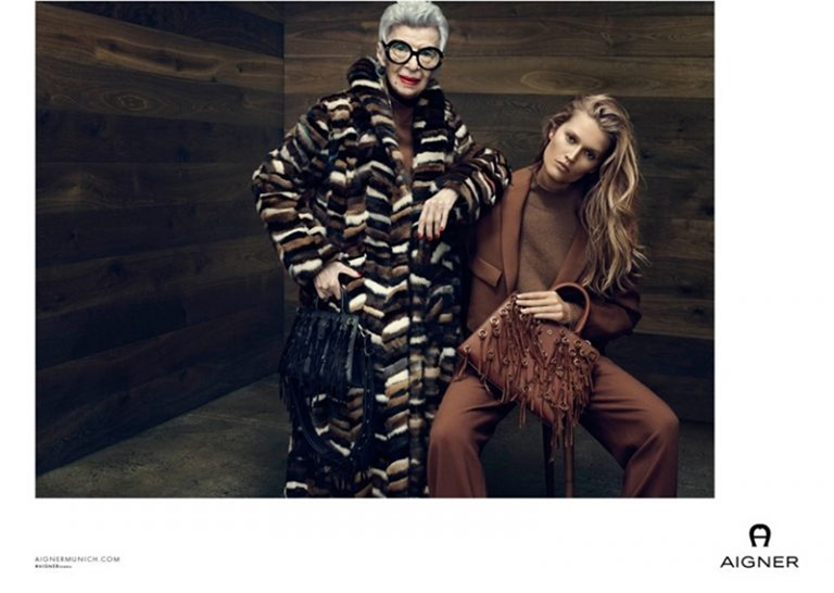 CAMPAIGN Iris Apfel & Toni Garrn for Aigner Fall 2016 by Terry Tsiolis. www.imageamplified.com, image Amplified (1)