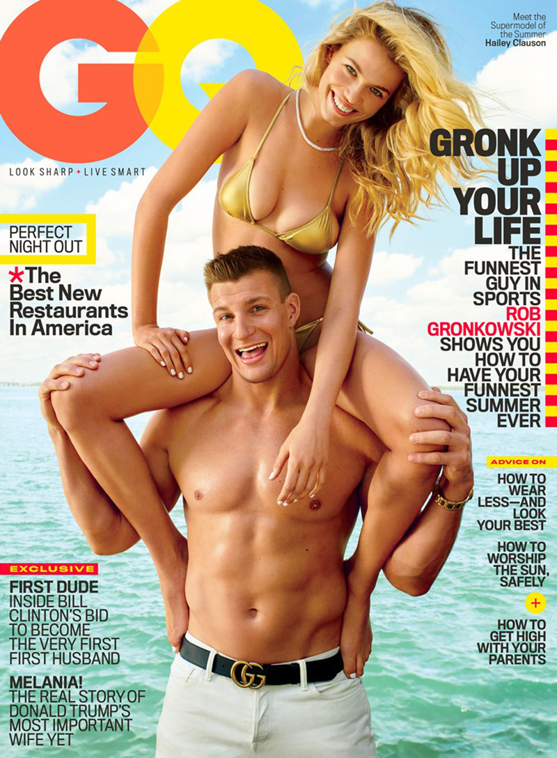 GQ MAGAZINE Rob Gronkowski & Hailey Clauson by Peggy Sirota. June 2016, www.imageamplified.com, Image Amplified (3)