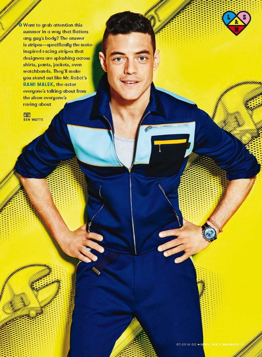 GQ MAGAZINE Rami Malek by Ben Watts. Summer 2016, www.imageamplified.com, Image Amplified