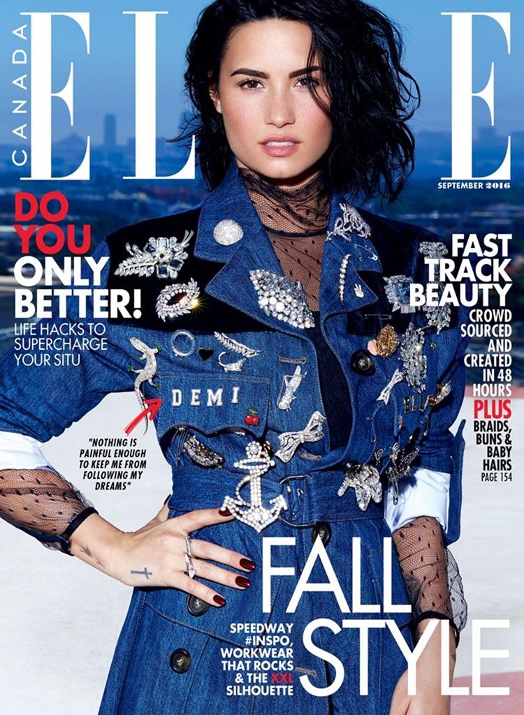 ELLE CANADA Demi Lovato by Max Abadian. Juliana Schiavinatto, September 2016, www.imageamplified.com, image Amplified1