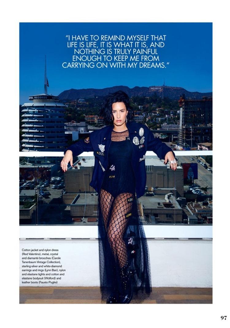 ELLE CANADA Demi Lovato by Max Abadian. Juliana Schiavinatto, September 2016, www.imageamplified.com, image Amplified4