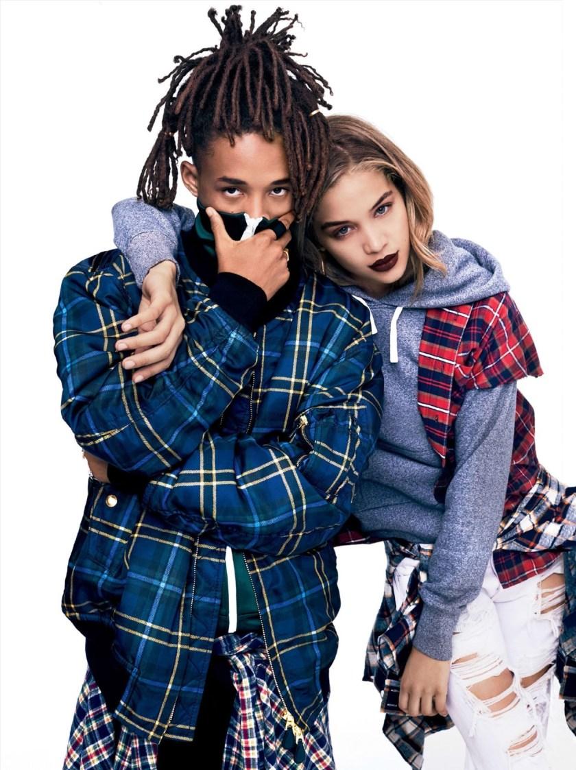 GLAMOUR MAGAZINE Jaden Smith & Jasmine Sanders by Miguel Reveriego. Katie Mossman, August 2016, www.imageamplified.com, Image Amplified4