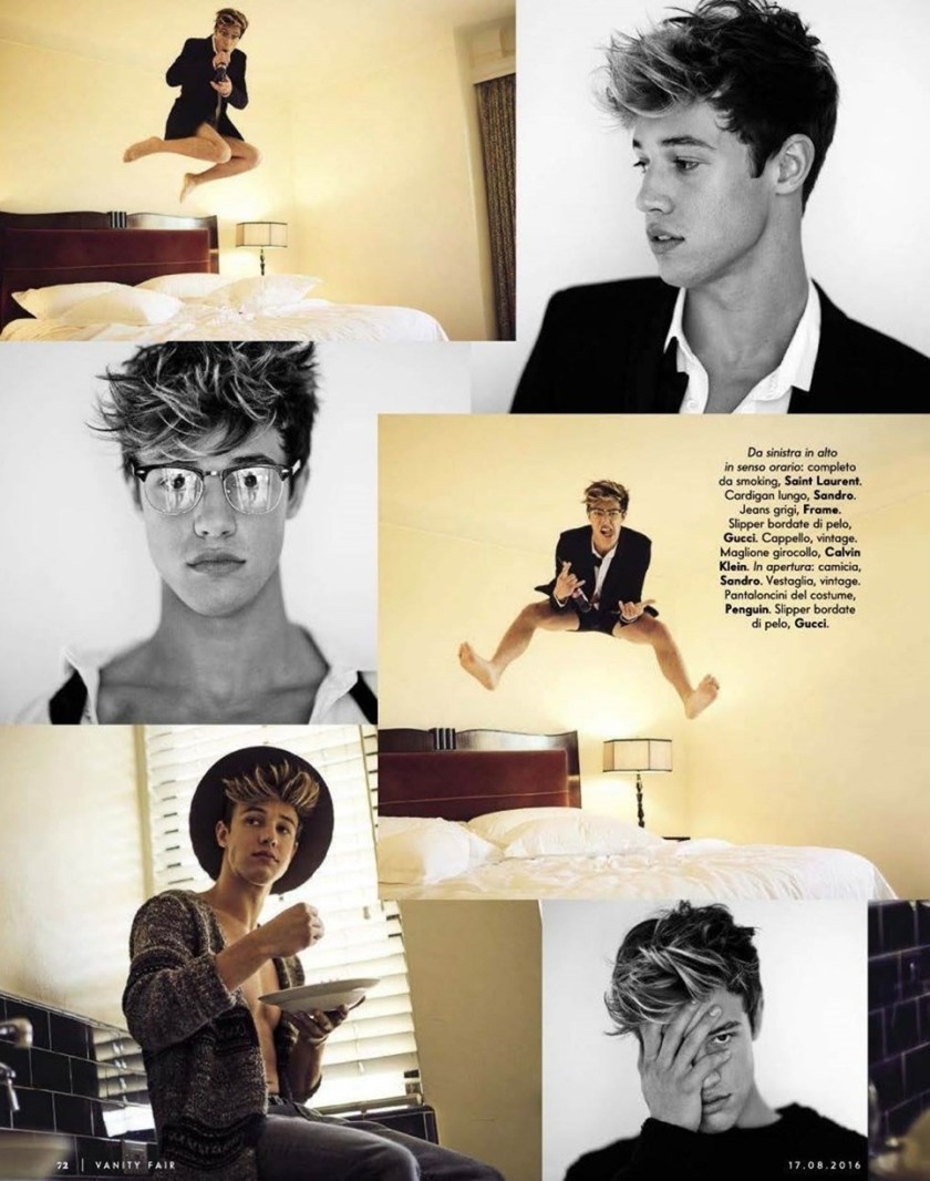 VANITY FAIR ITALIA CAmeron Dallas by Mike Rosenthal. Wyman Chang, Summer 2016, www.imageamplified.com, Image Amplified (2)