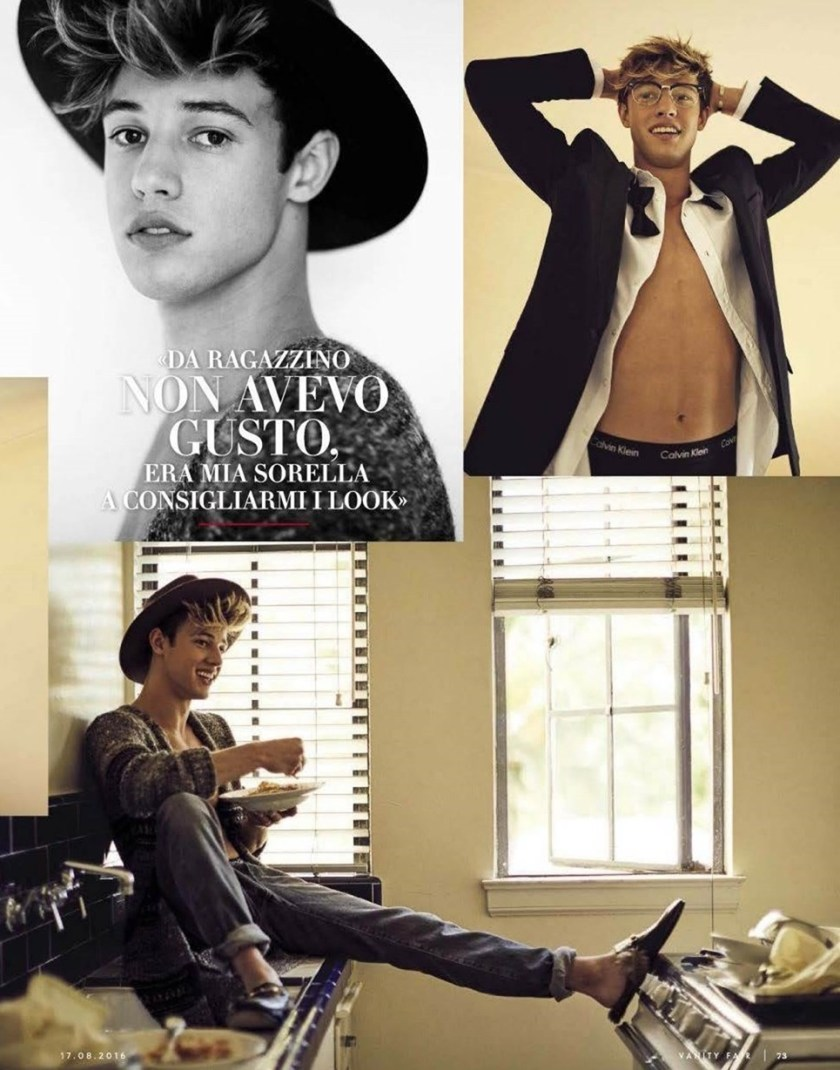 VANITY FAIR ITALIA CAmeron Dallas by Mike Rosenthal. Wyman Chang, Summer 2016, www.imageamplified.com, Image Amplified (3)