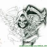 imagenes de la santa muerte en dibujos (5)