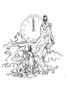 imagenes de la santa muerte a lapiz (3)