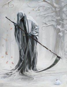imagenes de la santa muerte en dibujo (2)