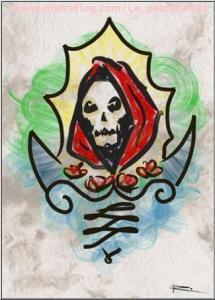 imagenes de la santa muerte en dibujo (4)