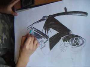 imagenes de la santa muerte en dibujo (6)