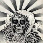 imagenes de la santa muerte en dibujo (12)