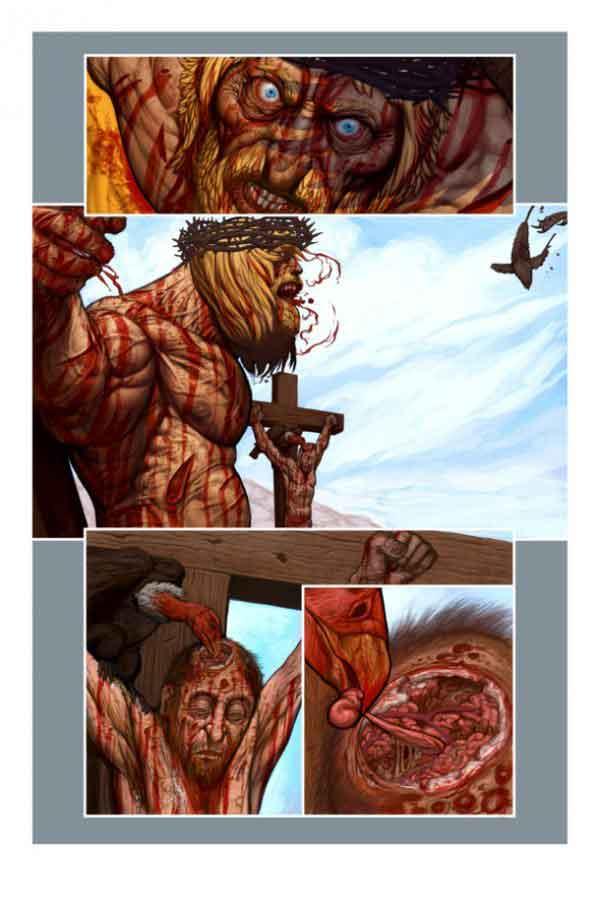 Resultado de imagem para HQ jesus   Savage Sword of Jesus Christ