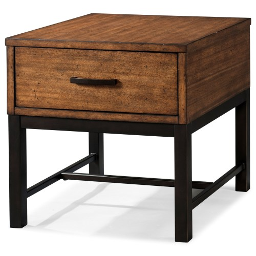 Medium Of Industrial End Table