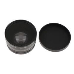 Lente Grande Angular Profissional De 58mm 0.45X Com Macro E Bolsa De Armazenamento Para SLR