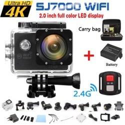 Câmera de ação à prova d'água SJ7000 / SJ7000K 16MP 4K Full HD 1080P Wifi Sports dv com acessórios