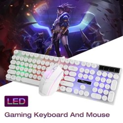 Kit Teclado Mecânico + Mouse Gamer Retroiluminado LED