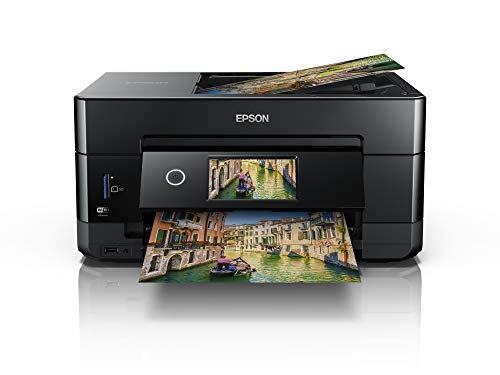 Epson Expression Premium XP-7100 3-in-1-Multifunktionsgerät Drucker (Scannen, Kopieren, WiFi, Ethernet, Duplex, Duplex-ADF, Einzelpatronen, 5 Farben, DIN A4, Amazon Dash Replenishment-fähig) schwarz