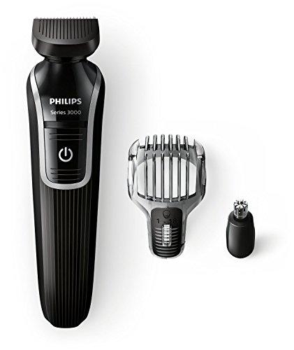 Philips QG3320/15 - Recortador de barba y precisión 3 en 1, color negro