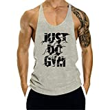 KODOO Just DO Gym Canotta Uomo Bodybuilding Sportivo Canottiera Fitness Gym Tank Top Cotone