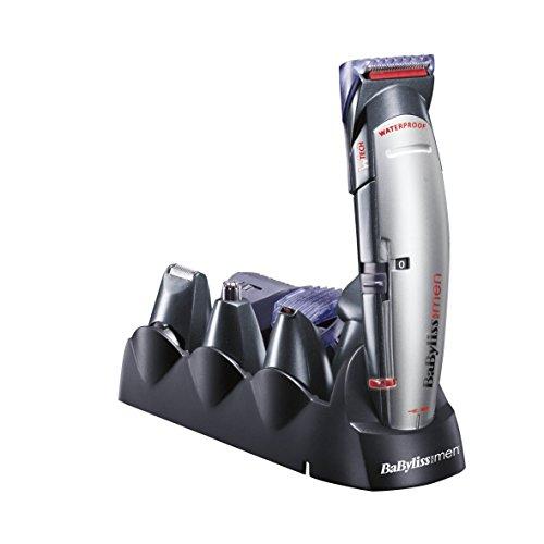 BaByliss X-10 - Cortapelos para cara, cabello y cuerpo, color negro y gris