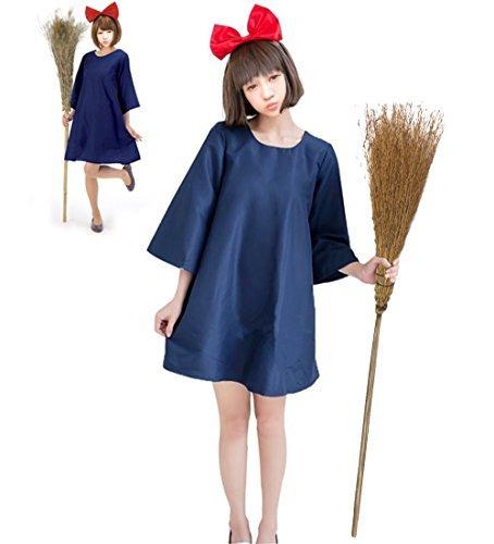 Sympa ハロウィン 魔女の宅急便 キキ 風 コスプレ 魔女っ子 ワンピース 仮装 コスチューム レディース