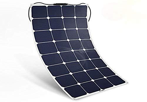 BougeRV ソーラーパネル ソーラーチャージャー 太陽光発電 100W 12V ETFE層 曲がれ MC4コネクタ付き 太陽電池 ソーラーパワーフレキシブル超薄型 SUNPOWER ソーラー充電器 バントラックカー付き キャビンテント ソーラパネル