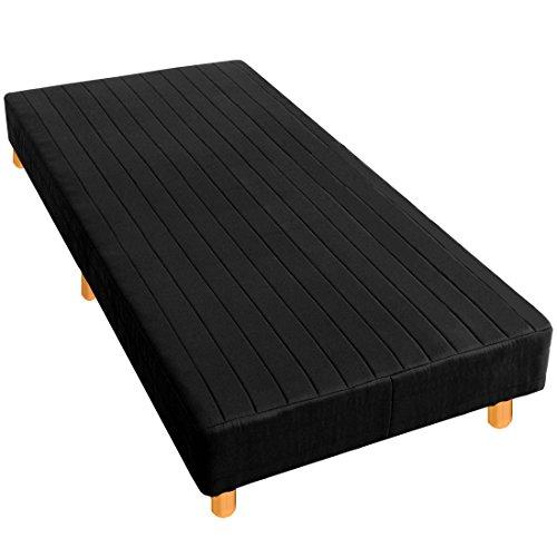 タンスのゲン 一体型 脚付きマットレス シングル ベッド 脚長15cm ボンネルコイル ノンホルムアルデヒド ブラック AM 000080 11
