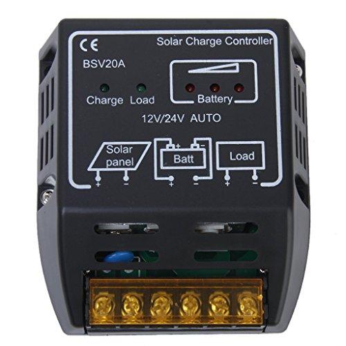 20A 12V 24V ソーラーパネル用 チャージコントローラー 充放電コントローラー