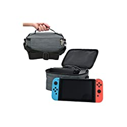 KINGMAS Nintendo switch 専用 収納バッグ 任天堂 Switch 旅行 収納カバン (はいいろ)