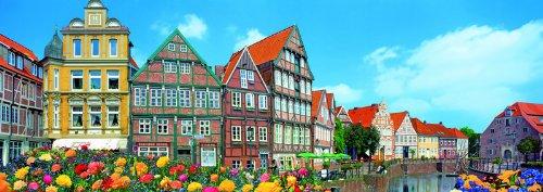 420ピース ジグソーパズル パズルの達人ワイドサイズ 木組み造りの小さな町-ドイツ スモールピース(18.2x51.5cm)