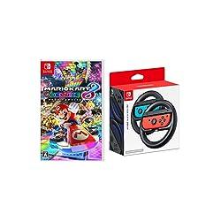 【Amazon.co.jp限定】マリオカート8 デラックス+Joy-Conハンドル 2個セット+オリジナルポストカード (10種セット)