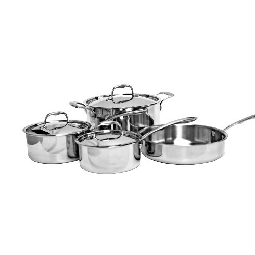 Thunder Group 7 Piece Tri-Ply Cookware Set