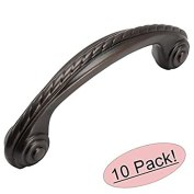"""Cosmas 4114ORB Oil Rubbed Bronze Cabinet Hardware Rope Scroll Handle Pull - 3"""" Hole Centers, 10-Pack by Cosmas"""
