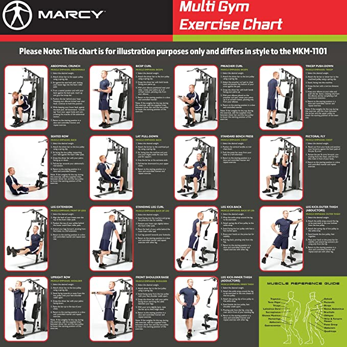 Weider 2980 Home Gym Exercises: Marcy Home Gym Exercise Chart Pdf