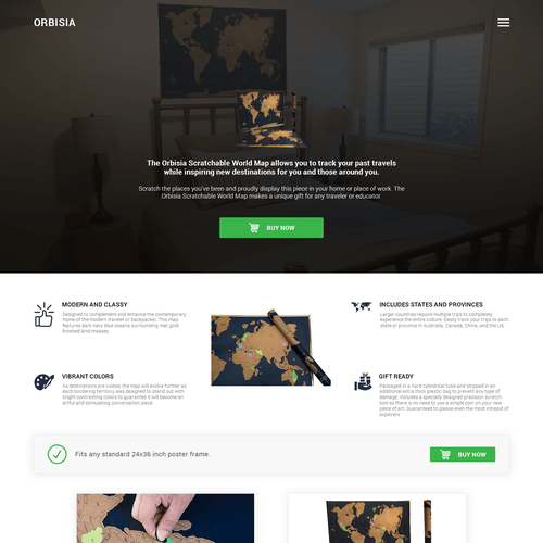 Design a high converting landing page for a classy travel scratch     Runner up design by R    zvan I