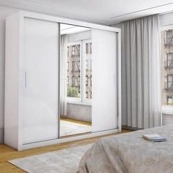 Guarda-Roupa Isabela 3 Portas de Correr com Espelho Branco -Carioca Moveis
