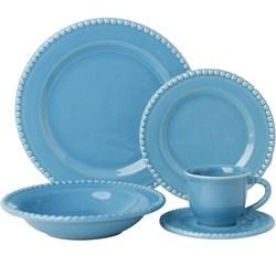 Aparelho De Jantar Poá 20 Peças Azul Piscina - La Cuisine