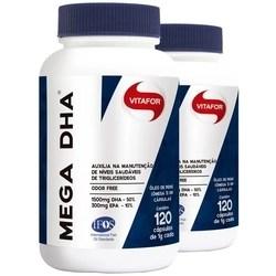 Kit com 2 Mega DHA 1500mg 120 cápsulas da Vitafor
