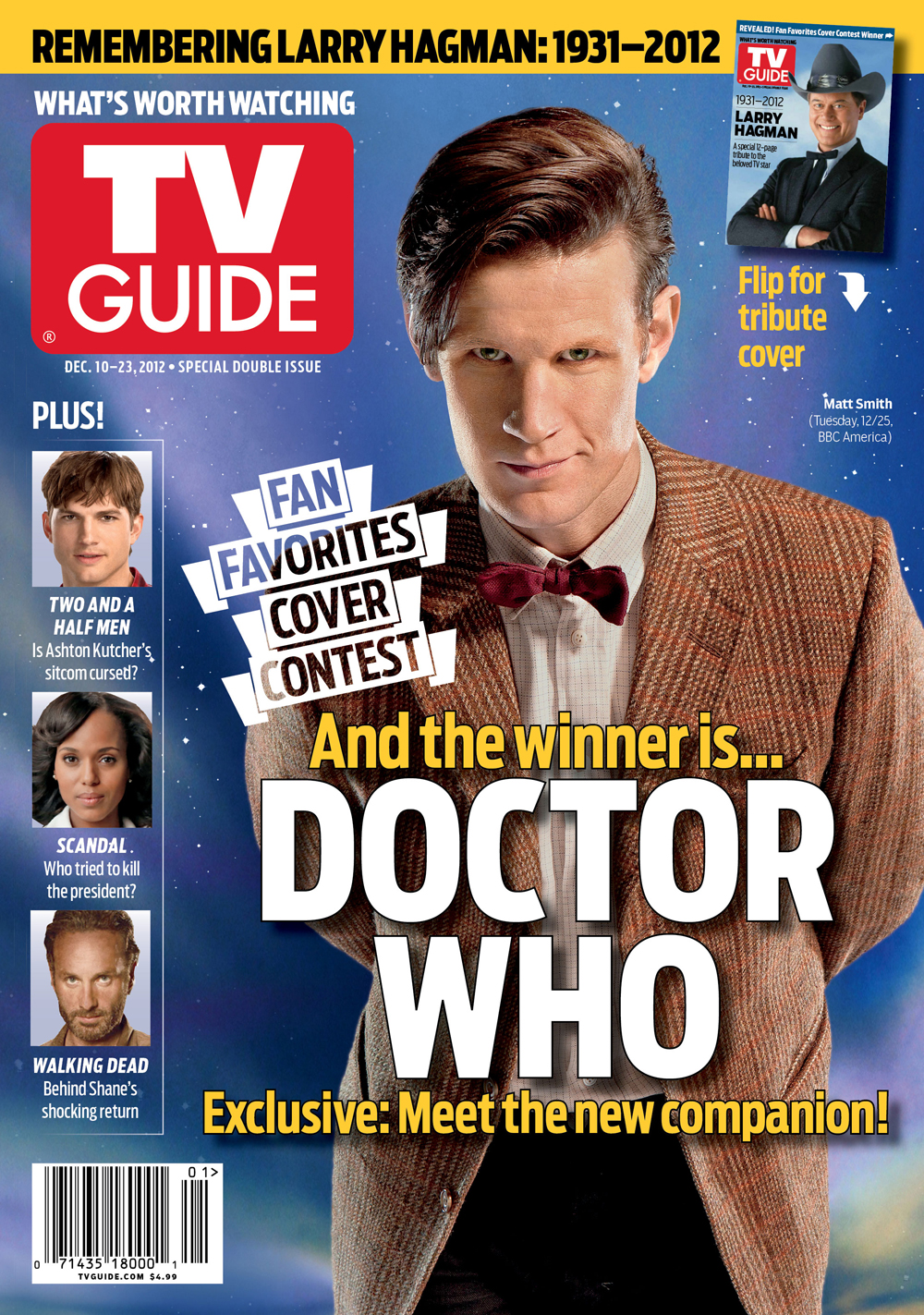 Whovians Did It   Doctor Who  Lands TV Guide Magazine s Fan     Christmas
