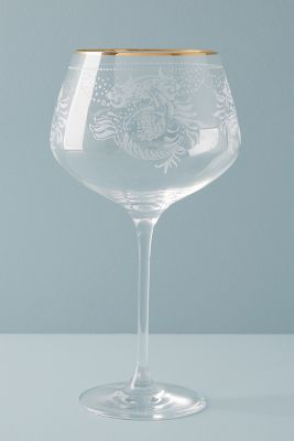 Sante Red Wine Glass   Anthropologie