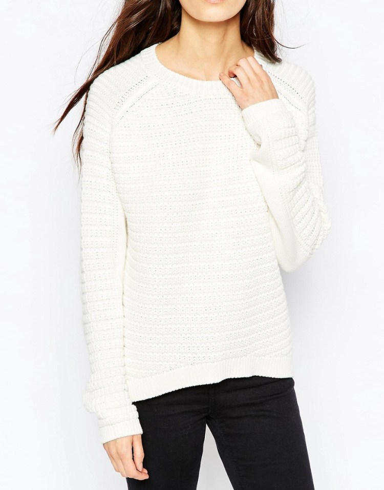 Image 3 of ASOS Chunky Jumper In Cotton With Stitch Detail