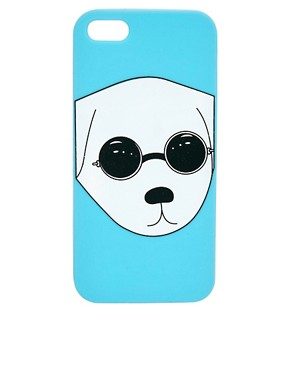 Image 1 of ASOS Jelly iPhone 5 Case With Dog Print