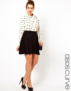 ASOS CURVE Exclusive Skater Skirt In Jersey