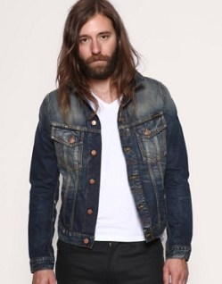 Image 1 of Nudie Terry Organic Used Wash Denim Jacket